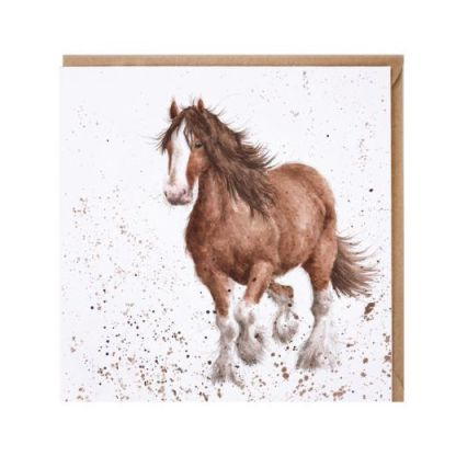 'Feathers' horse card