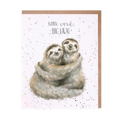 'Little Card Big Hug' Sloths Card