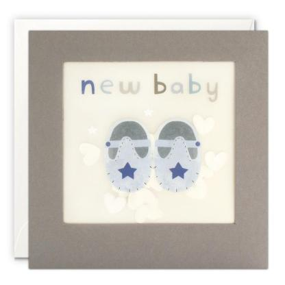 New Baby Blue Shoes Shakies Card