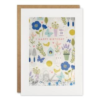 Happy Birthday Garden Shakies Card