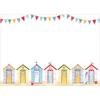 Beach Huts Notecards