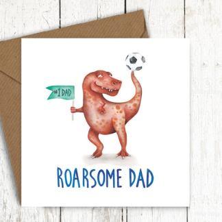 Roarsome dad dinosaur card