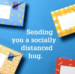 Should you post letters during the Coronavirus pandemic? Well it could be a way of sending a hug in an envelope