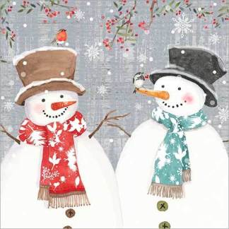 Two Snowmen Christmas Cards