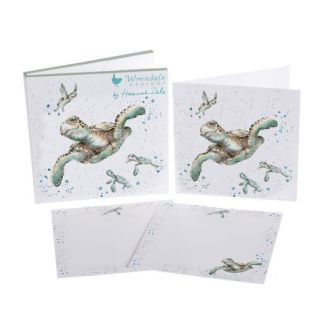 Swimming School Turtles Notecard pack