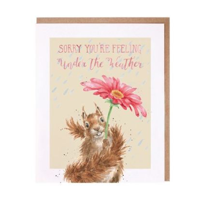 Wrendale Under the Weather squirrel card