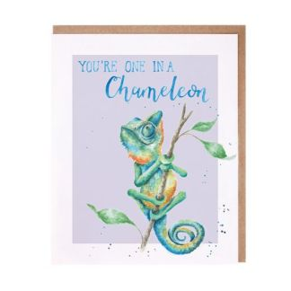 Wrendale One in a Chameleon card