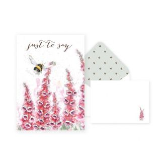 Just to Say Bee Notelet pack