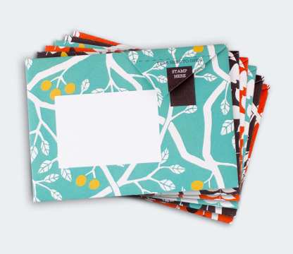 Wood pigeon folded letters