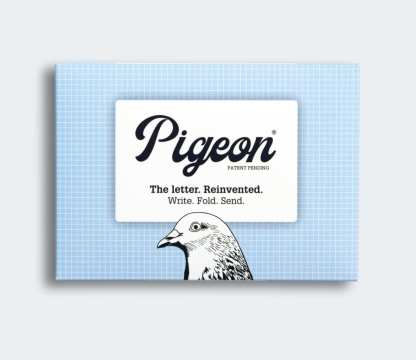 Stationery pigeon folded letters