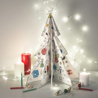 Colour and Make 3D Christmas Tree
