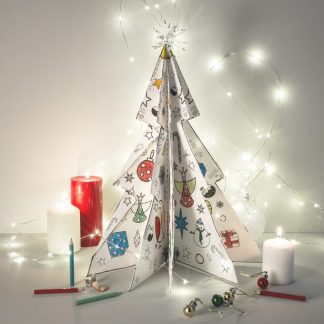 Colour and Make 3D Christmas Tree