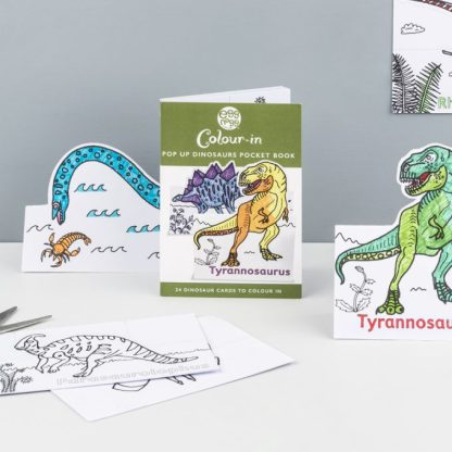 Colour in Dinosaurs Cards