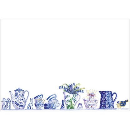 Blue and White China Notecards