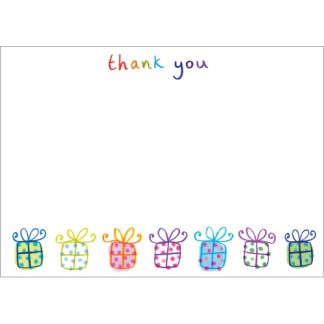 Presents Thank You Notecards