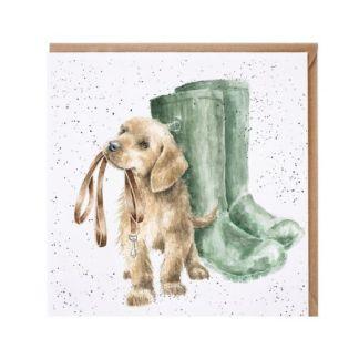 Hopeful Puppy Dog card