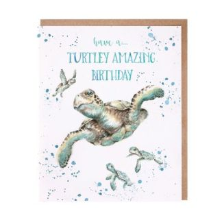 Turtley Amazing turtle birthday card