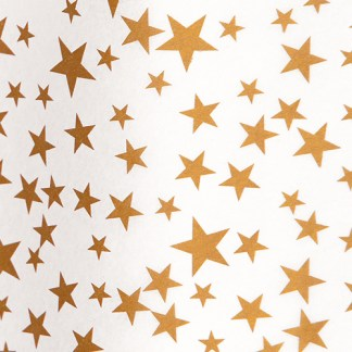 Gold Stars on White Tissue