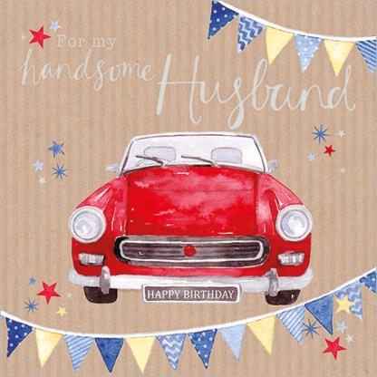 Handsome Husband Birthday Card