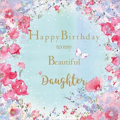 To My Beautiful Daugther Card