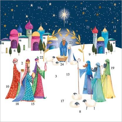 Bethlehem Advent Calendar Card