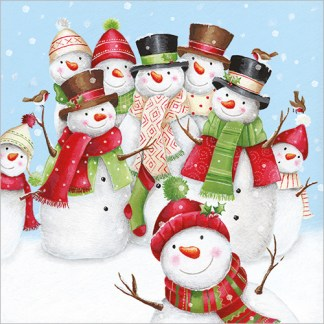 Snow Family Christmas Cards