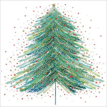 Starry Christmas Tree Christmas Cards