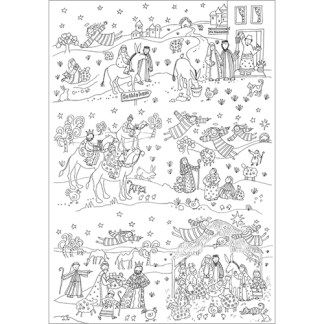 Colour in Nativity Tablecloth or Poster