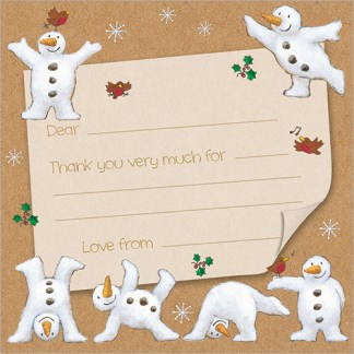 Snowmen Christmas Thank You Notecards