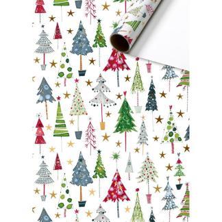 Christmas Trees Roll Wrap 2m