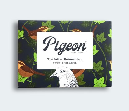 Robin and Wren pigeon folded letters