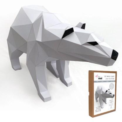 Polar Bear papercraft kit