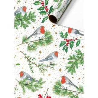 Robins Christmas roll wrap 2m