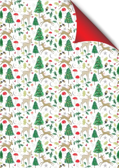 Woodland Deer gift wrap