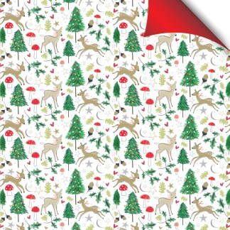 Woodland Deer gift wrap
