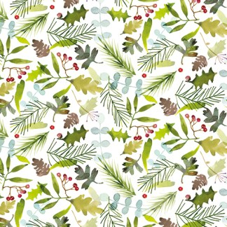 Christmas Foliage gift wrap