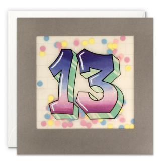 Age 13 Graffiti Shakies Card
