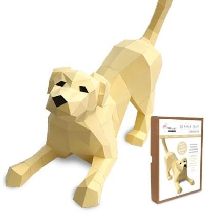 Labrador papercraft kit