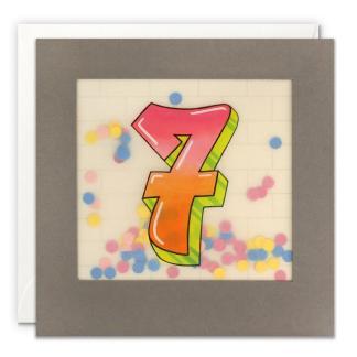 Age 7 Graffiti Shakies Card