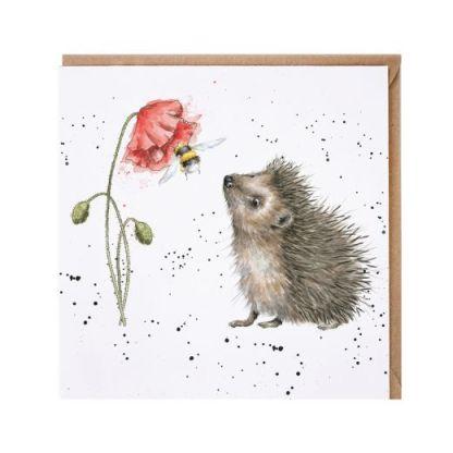 Busy as a Bee Hedgehog card