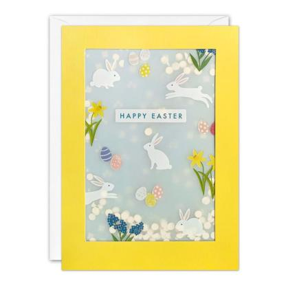 Easter Bunny Shakies Card