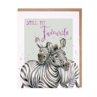 Wrendale Still my Favourite Zebra card