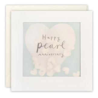 Pearl Anniversary Shakies Card