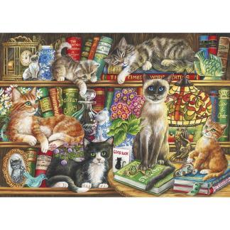 Puss in Books 1000 piece jigsaw
