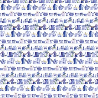 Blue and White China gift wrap