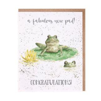 'New Pad' frog card
