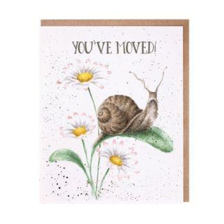 'You've Moved!' snail card