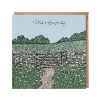 'With Sympathy' gateway card