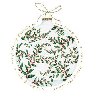 Merry Christmas Bauble Christmas Cards