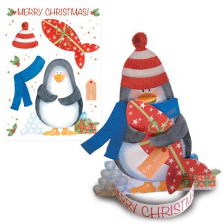 Penguin 3D card